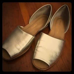 Gold D'orsay sandals